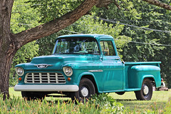 Chevy 3200 (buickstyle232) Tags: chevrolet chevy trucks oldtrucks chevytruck chevy3200 turquoise truck restored pickuptrucks chevrolet3200 lindsborgks lindsborgkansas