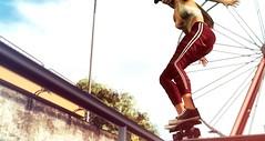 Kylie (VeraCruza) Tags: zk rkkn rkposes secondlife skateboard fashion virtualworld vanityevent maitreya hourglass bellezafreya arbordale wheel urban sportswear