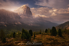 Discovering Dolomiti (Iván F.) Tags: dolomiti italy mountain landscape landscapes limides nature explore exploration explorer cloud sunset sundown europe hike trees down sonya7r