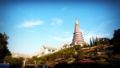 Doi Inthanon, Chiang Mai , Thailand (www.icon0.com) Tags: park doi inthanon wallpaper thailand chiangmai tower national green travel day flower culture queen history nopphamethanidonnopphaphonphumsiristupa buddhist east old traditional stupa building buddhism asia religious tourist thai high design architecture temple blue mountain beauty pagoda sky tourism religion buddha art ancient napamethanidonnapaphonphumsiristupa beautiful background water space nature vacation construction landscape