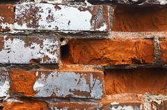 Crumbling Bricks (Orbmiser) Tags: mzuiko ed 1240mm f28 pro 43rds em1 mirrorless olympus ore portland m43rds wall bricks crumbling broken texture mzuikoed1240mmf28pro