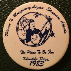 EDMONTON, MOMONTGOMERY LEGION 1983--- PIN BACK BUTTON (woody1778a) Tags: edmonton edmontonhistory alberta canada pinback button history mycollection myhobby