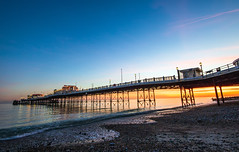 Worthing Pier Sunset (o RATMAN o) Tags: worthing worthingpier westsussex sunset canon7dmk2 sigma1020mm seafront seaside sea pier sun set waves coast coastal clouds sky skies rocks shore pebbles beach lee leefilters evening