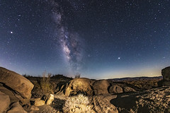 Rocks, Milky Way, and Badlands In the Anza-Borrego Desert (slworking2) Tags: borregosprings california unitedstates us anzaborrego anzaborregodesertstatepark rocks milkyway vialactea desert night sky