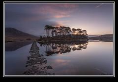 first light (Ken Duke Photography) Tags: dawn sunrise rocks path ireland galway lake reflection clouds mountain trees glass