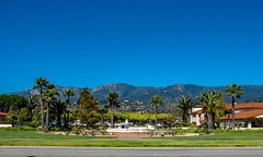 Santa Barbara Coastline (Shawn Blanchard) Tags: santa barbara california ca beach water sky blue mountains cali palm trees green architecture coast