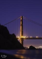 Golden Gate (jen_moss) Tags: goldengate goldengatebridge night nightphotography bridge sanfrancisco baybridge marin kirbycove california wave city evening