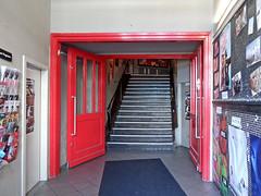 Red Entrance (onnola) Tags: berlin deutschland germany gwb guesswhereberlin tür door eingang entrance treppe stairs teppich carpet kreuzberg kino cinema moviemento