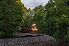 NS 282 at McPherson (travisnewman100) Tags: norfolk southern train ns railroad rr freight intermodal es44ac heritage 8104 ge lehigh valley atlanta north district georgia division dallas mcpherson 282 c449w