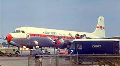 Chicago Midway Airport - Saturn Airways - DC-6B (twa1049g) Tags: chicago midway airport saturn airways douglas dc6b 1961