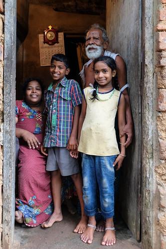 Ritrtto di famiglia. Kerala, India, 2018