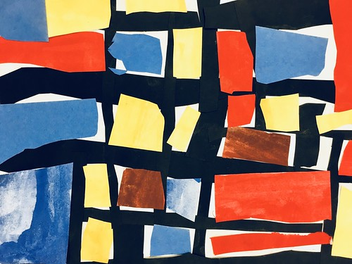 """Every year I get new favorites with this #kindergarten #pietmondrian  inspired painted paper gridded #collage ❤️❤️  They have such an amazing lyricism at this age that I admire so much. Want em all! • <a style=""""font-size:0.8em;"""" href=""""http://www.flickr.com/photos/57802765@N07/30026291548/"""" target=""""_blank"""">View on Flickr</a>"""