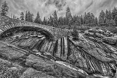 Bridge Over Clover Creek (bw) (Michael F. Nyiri) Tags: arty clovercreek sequoianationalpark california northerncalifornia sierranevadamountains monochrome