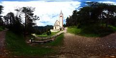 St. Jacobs church, Ortisei, Val Gardena (Cristian Marchi) Tags: church chiesa mountains montagna alps alpi architecture architettura hike sentiero escursione 360cities 360x180 hugin panorama