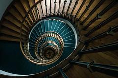 Wooden stairs (michael_hamburg69) Tags: hamburg germany deutschland treppe stairs wood wooden wendeltreppe heraldik stern star windrose hoheluftchaussee108