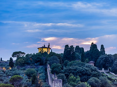 House on the Hill (Hany Mahmoud) Tags: house hill mountain trees landscape italy florence sky dusk sunset sunrise dramatic tourist travel europe nature cloudy clouds
