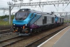 """Transpennine Express Liveried Class 68's, 68032 & 68024 """"Centaur"""" (37190 """"Dalzell"""") Tags: tpe transpennineexpress northernstar firstgroup drs directrailservices vossloh stadler valencia cat class68 68024 centaur 68032 crewe"""