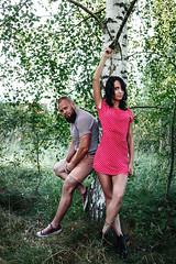 Артем и Катерина единятся с русской березкой. (plotkamusic) Tags: girl boy russian group people portrait outdoor
