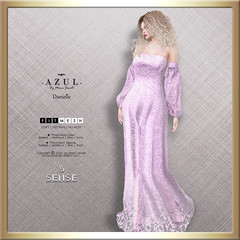 (AD) -AZUL- Danielle [SENSE] (mami_jewell) Tags: azul senseevent prerelease exclusive limited dress hautecouture gown lace sheer sleeves formal virtual sl secondlife game avatar fashion fantasy