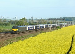92018, Rugeley, 9 May 2018 (Mr Joseph Bloggs) Tags: 92018 rugeley 1m16 sleeper railway train bahn railroad inverness 92 london euston