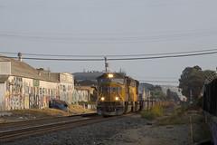 Saturday Evening Baretables (imartin92) Tags: berkeley california unionpacific railroad railway freight train emd sd70m locomotive
