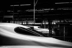 Shinkansen (Hiro_A) Tags: shinkansen shinosaka osaka japan station monochrome bw blackwhite train sony rx100m3