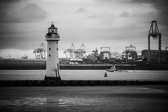 lighthouse and docks and pilot boat (Mike Ashton) Tags: mersey sps wirral seaside coast newbrighton
