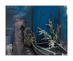 Bleu _ oued (hélène chantemerle) Tags: bleu barque feuiilage blue boat foliage