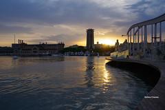 Barcelona, tramonto al porto. (stefano.chiarato) Tags: barcelona espana porto acqua water reflections tramonto sun sunset paesaggio panorami landscape pentax pentaxk70 pentaxlife