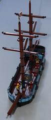 Ship WIP 2 (spud_the_viking) Tags: lego ship boat vessel navy merchant moc corrington redcoat mast