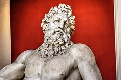 River God-bust (Halloween HJB) Tags: roman river god beard rome vatican museum