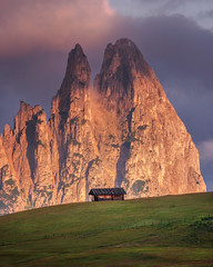 Tiny cottage (Dreamy Pixel) Tags: alm alms alpe alpine alps background beautiful beauty blue cows di dolomites dolomiti europe fall farmland grassland green group hiking idyllic italy landscape langkofel meadow mountain mountains natural nature outdoor park pasture peaceful plateau rock rural scenic sciliar seiser siusi sky south southern stunning summer sunrise sunset travel tyrol view ngc