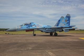 71, Sukhoi Su-27UB Ukraine Air Force @ Fairford EGVA