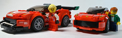 Meet Your Heroes (OpenBagTwo) Tags: lego speed champions mod ferrari 488 gtb 75886 gt3