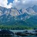 Zugspitze in den Wolken