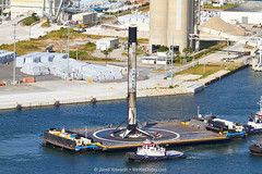 Preparing to Berth (alloyjared) Tags: spacex falcon9 portcanaveral merahputih spacecoast florida jettypark helicopter aerialphotography floridaairtours