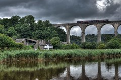 The Calstock Viaduct, River Tamar, Devon (Baz Richardson (catching up again)) Tags: devon calstockviaduct berepeninsula tamarvalleyline rivertamar railwayviaducts