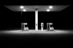 Fiamma2000 (hydRometra) Tags: gasoline night minimalismo strada benzina allaperto outdoor notte sardinia shadows minimalism road periferia bn sardegna ombre nightlights bw
