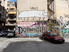 Laus/Dopamine (aestheticsofcrisis) Tags: street art urban intervention streetart urbanart guerillaart graffiti postgraffiti athens athen attiki athina greek greece europe eu exarcheia exarchia