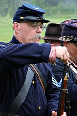 RE-LOADING (MIKECNY) Tags: musket rifle north union sergeant reenactor reenactment civilwar civilwarweekend wilton grantcottage reload