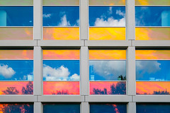 Multicolored window reflections (FotoCorn) Tags: science innovations color modernarchitecture city windows modern university universityoftechnology technology architecture business shape netherlands multicolor knowledge campus delft clouds improvements exterior colorful tudelft futuristic reflections design building research college contemporary lifestyle facade appliedsciences nano coating nanocoating