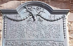 """The Seaforth Highlanders"" a WW1 tribute. Erected at Fort George nr Inverness. (Bennydorm) Tags: inmemorian thegreatwar sacrifice words thefallen europe uk gb britain lascozia escocia ecosse schottland scotland historic fort military barracks highlands inverness fortgeorge seaforthhighlanders iphone6s 191419 ww1 dedication remembrance tribute plaque memory"
