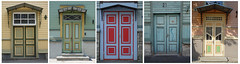 Tallinn - Colorful doors (fb81) Tags: estonia tallinn old town historic center kalamaja neighborhood wooden colorful house door