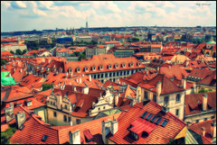 City (Billy McDonald) Tags: fractalius city prague rooftops clouds view