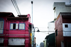 Pink under bright sky (sooping.k) Tags: urbex exploration urban ruins street streetphotography streetview nikon nikonphotography decay cityscape landscape landscapephotography scenery sceneryphotography architecture building asia malaysia alley backalley