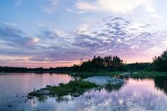 summer evening (kipuna (on/off)) Tags: kesä vesi auringonlasku haunistenallas raisio suomi finland sunset water reflections