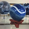 beautiful blue agate spheres 🌀🌀🌀in our limited #wood-stands #blue #agate #sphere #chalcedony #quartz #homedecor #healing #metaphysical #harmony #life #strength #positive #negative #balance #highfrequency #rockshop #lasvegas #gemsto (mikepiron1) Tags: jewelryandmineral las vegas crystal crystals store shop metaphysical supply healing rock mineral minerals miner collection natural stone