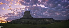 Day_03_Devils_Tower_D850_4183 Pano copy (Dr. M.) Tags: devilstowernationalmonument panoramic panorama goldenhour clouds 500px