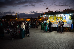 Jemaa el-Fnaa (Mathijs Buijs) Tags: jemaa el fnaa market square dusk night central marrakesh marrakech morocco canon eos 5d mark mk iii north africa