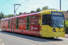 Manchester Metrolink 3100 *In Explore* (Mike McNiven) Tags: manchester metrolink tram lrv metro lightrail wythenshawe victoria airport advert vodafone